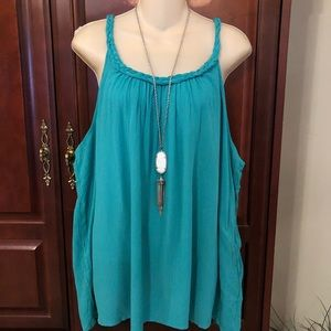 NWT Mossimo Tank Top with Braided Straps